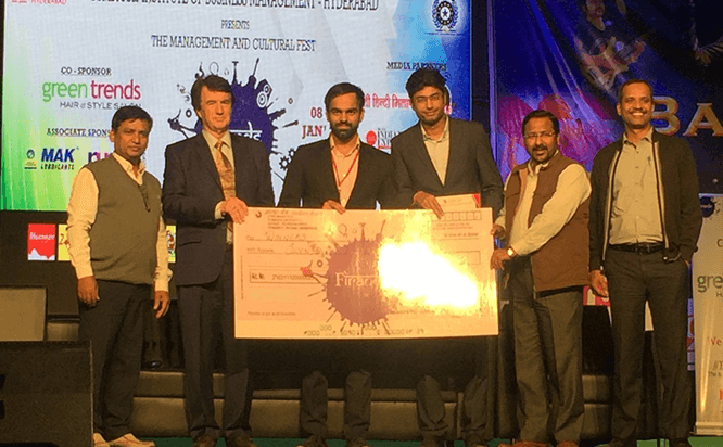 Inter-college competition named Agamya - Business strategy competition organized by SIBM - Hyderabad