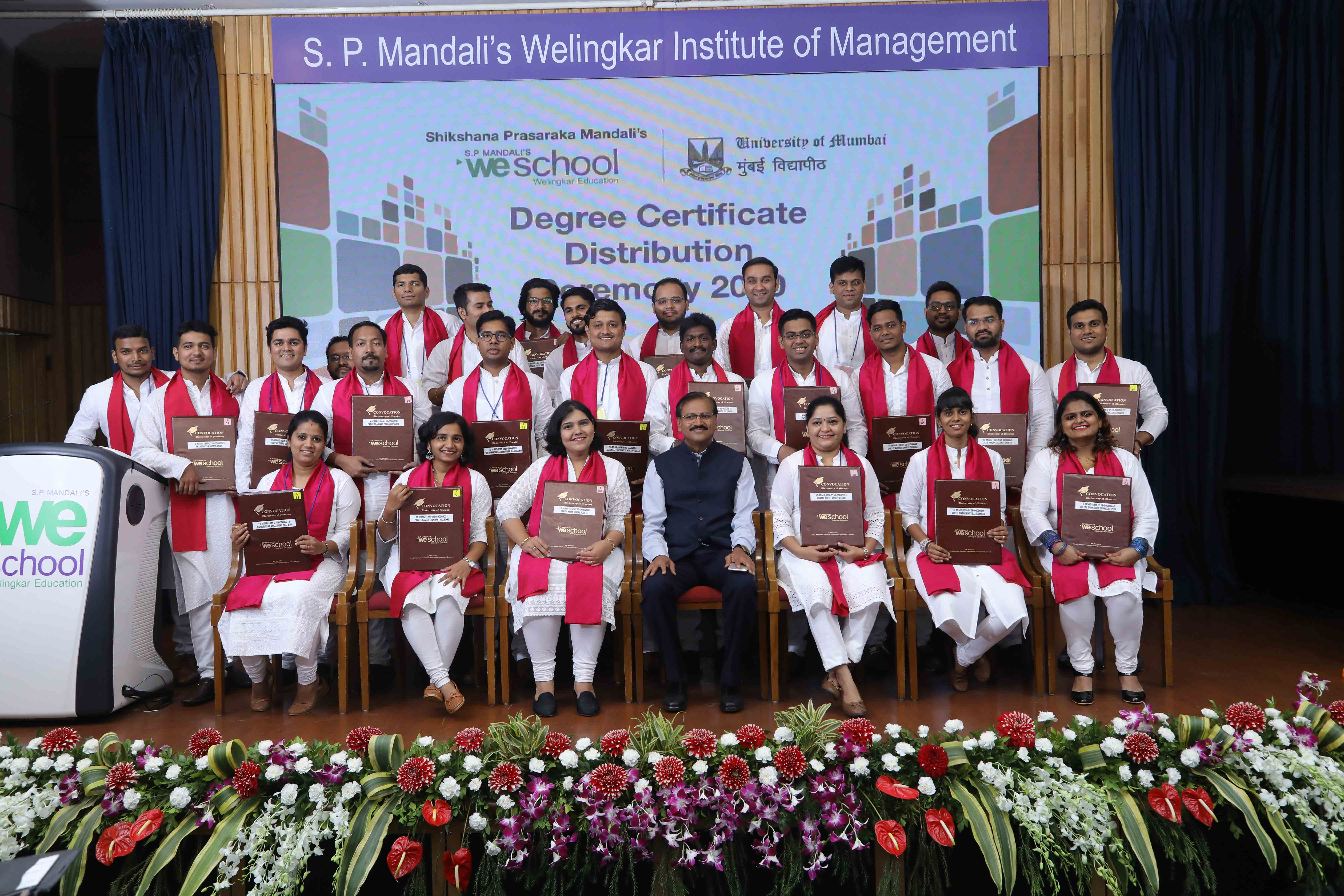 Convocation ceremony of Three Years Part-time Masters Degree and Masters in Management Studies (MMS) Program Batch