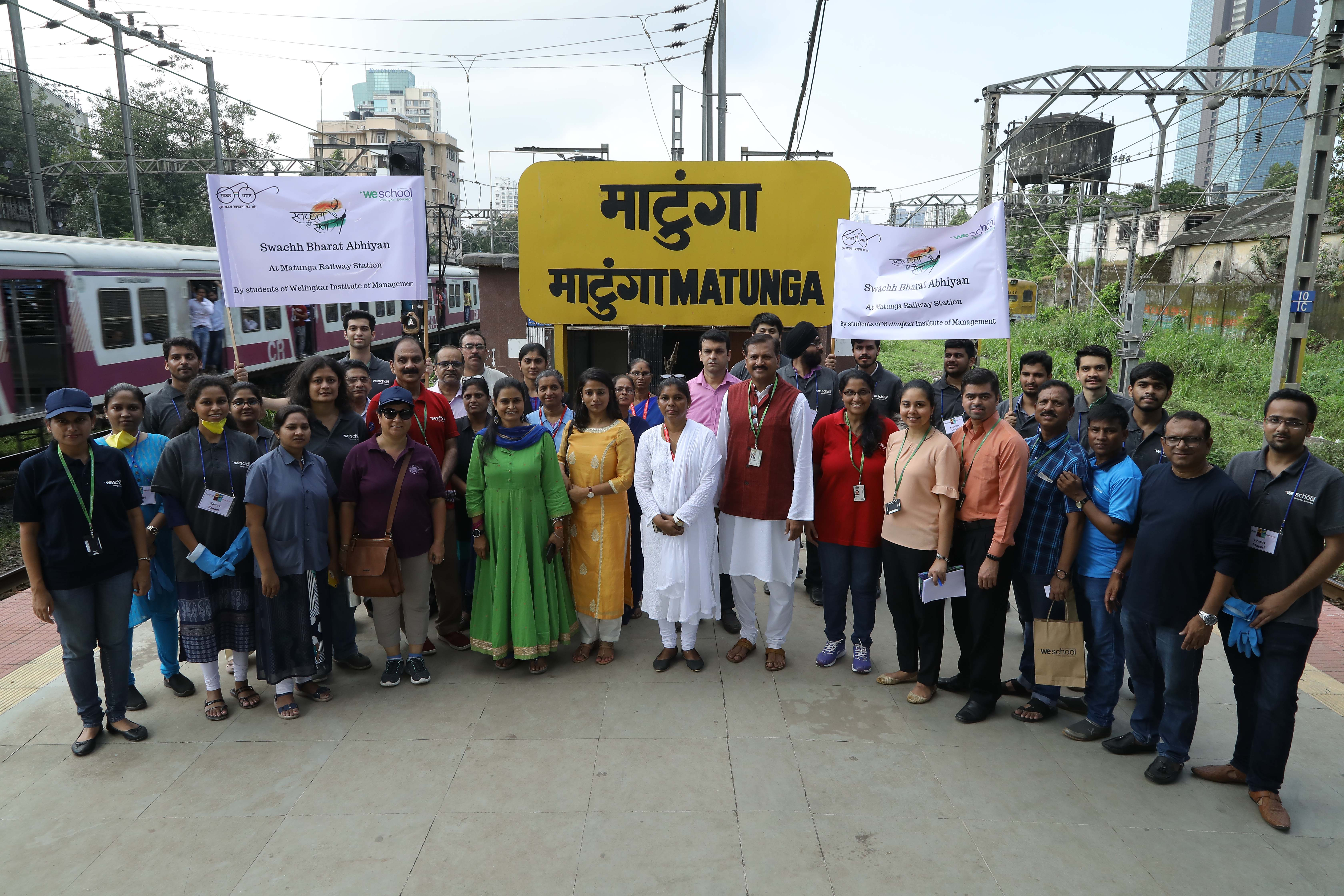 WeSchool students organise a cleanliness and beautification drive at Matunga - Central Railway Station