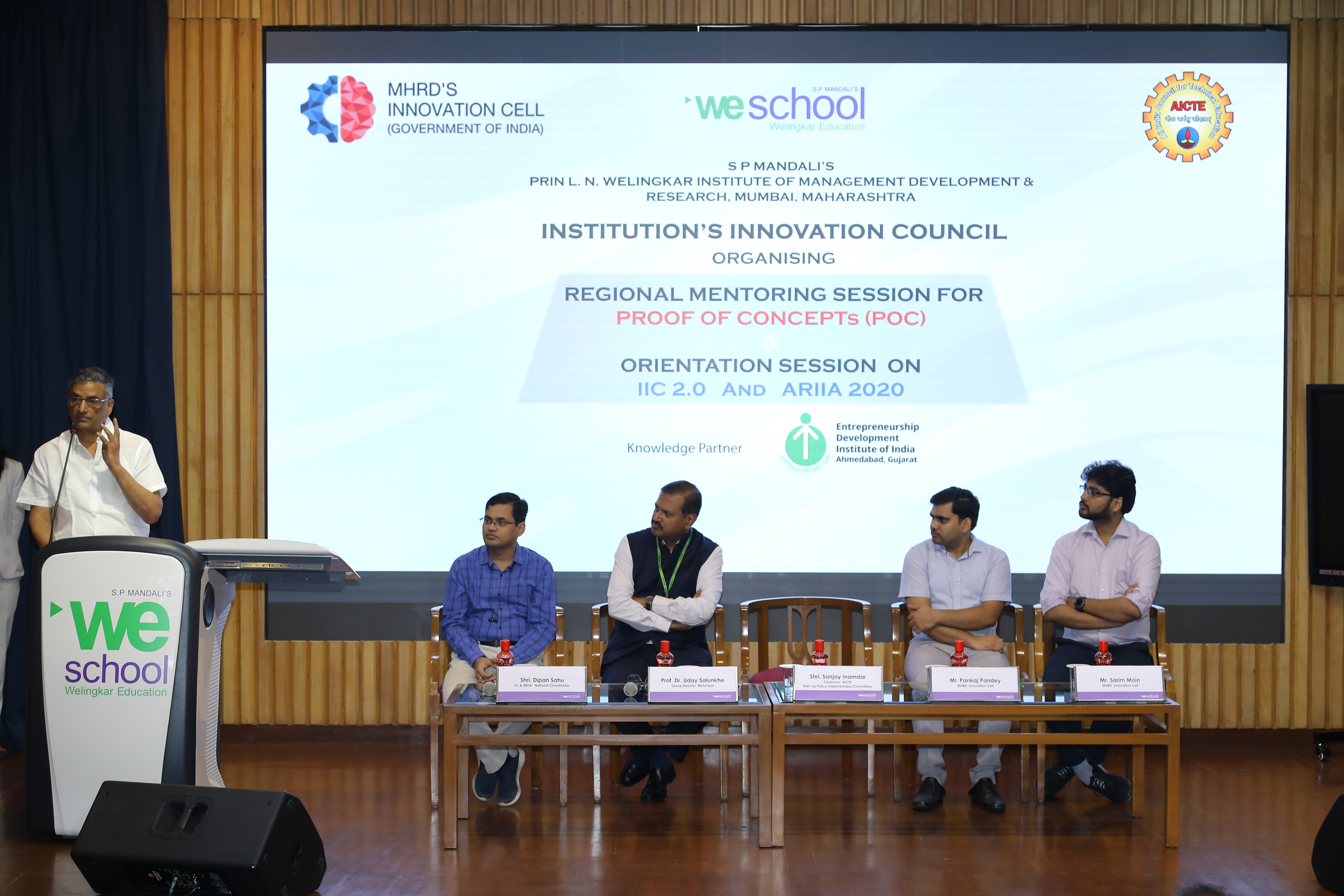 Young innovators from across 50 higher educational institutes mentored on S. P. Mandali's WeSchool campus in regional mentoring session for MHRD –IIC - Proof of Concepts (POC) alongside an orientation session on IIC 2.0 and (Atal Ranking of Institutions o
