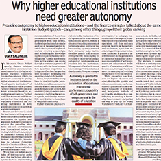 Why higher education institutions need greater autonomy