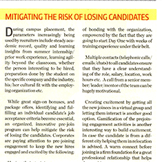 Mitigating the risk of losing candidates